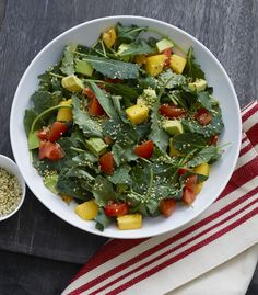 Massaged Kale Salad and Super Seeds! Recipe by @kitchen1 Via @wendypolisi.....vegan.