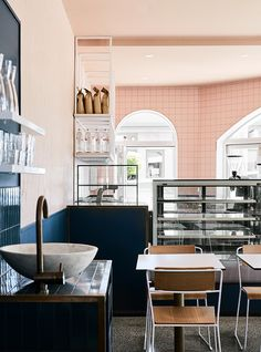 we are huntly injects color and contemporary edge to moby café interior