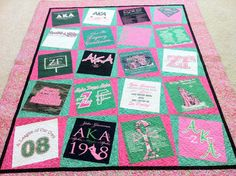 Alpha Kappa Alpha quilt...wonder if I can get one customized