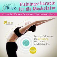 Mit unserem neuartigen fle-xx Trainingssystem wird die Muskulatur, anders als beim herkömmlichen Krafttraining, in die Länge trainiert. fle-xx ist ein ganzheitliches Beweglichkeitstraining, das besonders für Kunden mit Schmerzen in Rücken, Schulter, Nacken und Knie entwickelt wurde. 💪 Neugierig geworden? Informiere dich bei uns über die Möglichkeiten des Trainings! 😃 #LadyFitnessWerne #Werne #flexx #flexxTraining #Muskulatur #Rückenschmerzen #Training Flexx, Lady Fitness, Fit Women, Strength Workout, Shoulder, Fit Females, Fitness Women, Athletic Women