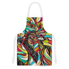 East Urban Home Tropical Cock by Danny Ivan Artistic Apron