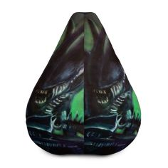 Alien Horror Movie All-Over Print Bean Bag Chair w/ filling Alien Horror Movies, Fabric Weights, Sliders, Bean Bag Chair, Beans, Comfy, Bean Bag Chairs, Beans Recipes, Bean Bags
