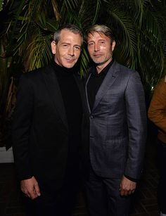 Actors Ben Mendelsohn and Mads Mikkelsen attend the 2016 GQ Men of the Year Party at Chateau Marmont on December 8 2016 in Los Angeles California
