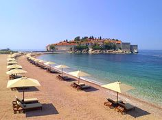 Aman Sveti Stefan on the Montenegro Adriatic coastline.