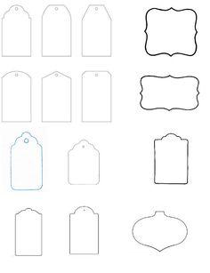 blank tag templates | Preschool Printables | Pinterest | Tag ...
