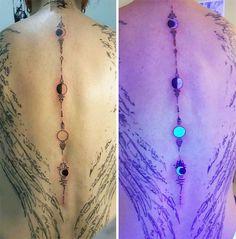 Phasen des Mondes - UV-Tattoo.