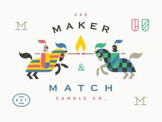 Maker & Match Candle Co. Labels designed by Adam Anderson. Connect with them on Dribbble; the global community for designers and creative professionals. Business Branding, Logo Branding, Branding Design, Logo Design, Brand Identity, Candle Logo, Adam Anderson, Knight Logo, Logo Line