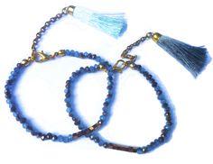 Classy Balinese Sea Gray Tassel Mala Bracelet $6 + range of colors on request*