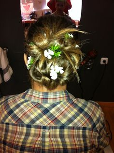 #peluqueria #peinado #boda #recogida #flores #moda #estilo #mujer #wedding #hairstyle