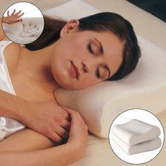 2 Ultra Soft & Slim Memory Foam Pillows – Contours for Comfort