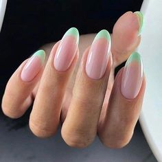 French nails create the visual effect of slender fingers. Now French nails have . - French nails create the visual effect of slender fingers. Now French nails have various color varia - Classy Nails, Stylish Nails, Trendy Nails, Cute Simple Nails, Colored French Nails, French Tip Nails, French Manicures, Short French Nails, French Tips