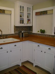 Handmade cabinets and poured concrete countertops