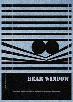 Rear Window Minimalist Alternative Movie Print by CelluloidJunkie