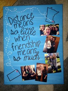 Distance canvas for a friend: