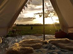 Beautiful bell tents and yurts for hire for your camping holiday. Treat yourself to boutique camping and clamping at an affordable price.