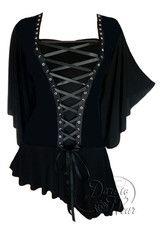 Dare To Wear Victorian Gothic Women's Alchemy Corset Top Onyx