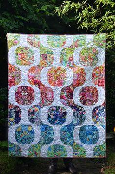 Amy Butler Mod Pop quilt finished 2