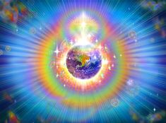 Beautiful image I couldn't resist making the background…from The Planetary Crystalline Grid and Rainbow Aura of the New Earth – Red Shaman Intergalactic Ascension Mission Força Interior, O Portal, Ascended Masters, Divine Mother, New Earth, New Energy, Auras, Heaven On Earth, Sacred Geometry