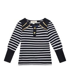 Look at this Blue Stripe Cord Sailor Tee  on #zulily today!