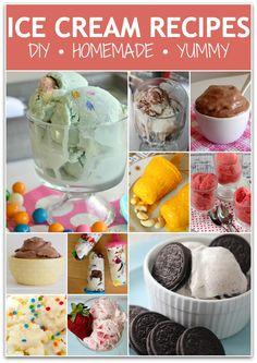 Make Your Own Ice Cream Recipes! Ice Cream Pops, Ice Cream Treats, Ice Cream Desserts, Frozen Desserts, Ice Cream Recipes, Frozen Treats, Ice Pops, Delicious Desserts, Yummy Food