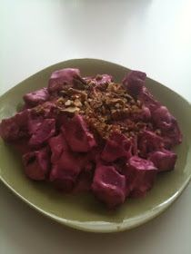 It All Tastes Greek To Me: Beet Salad with yogurt and walnuts