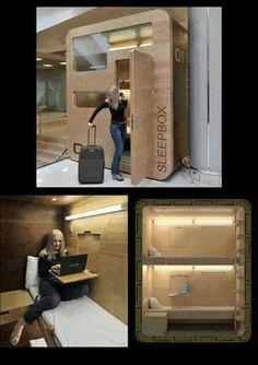 Boîte pour dormir, dans les aéroports