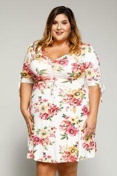 fa5efd64584 Womens Plus Size Outfits - Jen Floral Mini Dress