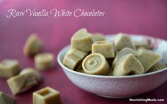 Nourishing Meals: How to Make Raw Vanilla White Chocolates (dairy-free, vegan)