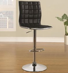 price for Bar Stool, Available in three colors, these adjustable bar stools feature a waffle textured back and seat with a thin chrome trim and base. Sold by set of 2 black stools.Bar Stool x x Bar Stool Chairs, Metal Bar Stools, 30 Bar Stools, Cafe Chairs, Swivel Bar Stools, Counter Stools, Black Stool, Black Bar Stools, Adirondack Chairs For Sale