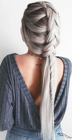 40 Trendy Braided Hairstyles For Long Hair To Look Amazingly Awesome; long weddi… 40 Trendy Braided Hairstyles For Long Hair To Look Amazingly Awesome;Beautiful prom hairstyles long hairstyles for teens. Cool Braid Hairstyles, Teen Hairstyles, Wedding Hairstyles For Long Hair, Hairstyles 2018, Hairstyle Ideas, Hairstyle Braid, Braid Ponytail, Pretty Hairstyles, Grey Hairstyle
