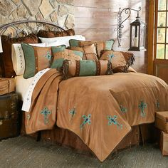 HiEnd Accents Las Cruces II Western Bedding Comforter Set - Customer favorite is back in stock @ #DelectablyYoursDecor #Western #Comforter #HiEndAccents