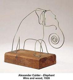 65 Ideas for modern art sculpture wire alexander calder Alexander Calder, Sculpture Lessons, Sculpture Art, Wire Sculptures, Elephant Sculpture, Sculpture Ideas, Modern Sculpture, Animal Sculptures, Art Fil