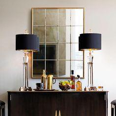Gold Framed Paneled Mirror | Frontgate