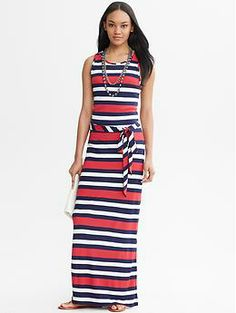 Multi-Stripe Patio Dress
