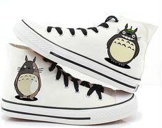 #Totoro Shoes Totoro High-top Painted Canvas Shoes