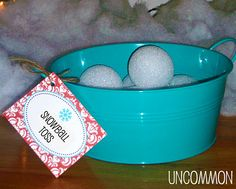 Definitely fun... I also use paper balls or socks filled with cotton. Uncommon Events: Winter Wonderland Birthday - Uncommon Designs...