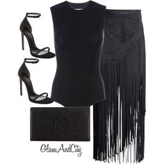 Untitled #75 by glamandcity on Polyvore featuring polyvore, fashion, style, H&M, Maison Margiela, Yves Saint Laurent and Chanel