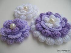 CROCHET FLOWER PATTERN Big Flower Crochet door LyubavaCrochet