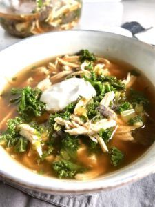 5-Ingredient Chicken Tortilla Soup with Kale