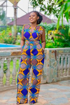 50 Pictures of The Latest Ankara Jumpsuit styles in 2018 African Maxi Dresses, African Fashion Ankara, African Inspired Fashion, Latest African Fashion Dresses, African Dresses For Women, African Print Fashion, Africa Fashion, African Wear, African Attire