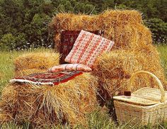 Hay Bale Chair! This reminds me of making cubby houses with hay bales when I was a lil girl!