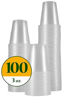 - 4oz Graduated Transparent Polypropylene Plastic Cups For Mixing Epoxy Resin