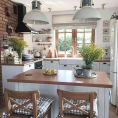 Elegant Kitchens, Beautiful Kitchens, Kitchen Interior, Kitchen Decor, Apartment Interior, Interior Doors, Interior Paint, Decor Interior Design, Interior Decorating