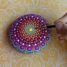 Dots of Paint Transform Ordinary Stones into Beautiful Mandalas | That Creative Feeling