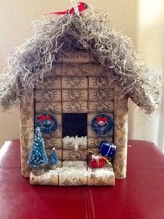 made to order… Wine Cork Birdhouse….Sample pictures ONLY – Valeriano Horta Custom.made to order… Wine Cork Birdhouse….Sample pictures ONLY Wine Cork Birdhouse, Crafts To Sell, Diy Crafts, Homemade Bird Houses, Wine Bottle Corks, Bird House Kits, Cork Art, Wine Cork Crafts, Theme Noel