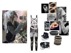 """""""OOTD"""" by my-lips-r-poison ❤ liked on Polyvore featuring Hudson, Disturbia, Converse and ALDO"""