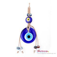 Mavi Göz Boncuklu Duvar Nazarlığı - NazarBoncugu.com