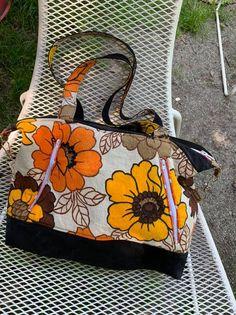 Sac  Java tissu fleuri vintage cousu par Fleur - Patron Sacôtin