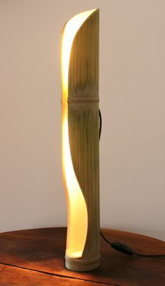 lamp made of bambu