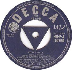 Decca 45-F-J 10790 Chris Barber's Jazz Band Storyville